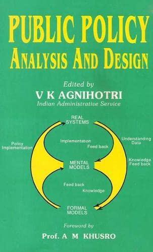 Public Policy, Analysis and Design: V.K. Agnihotri (Ed.)