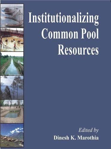 Institutionalizing Common Pool Resources: Dinesh K. Marothia
