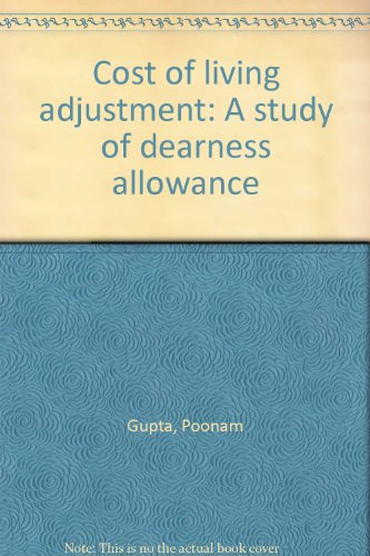 9788170230922: Cost of living adjustment: A study of dearness allowance