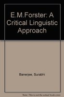 9788170234142: E.M.Forster: A Critical Linguistic Approach