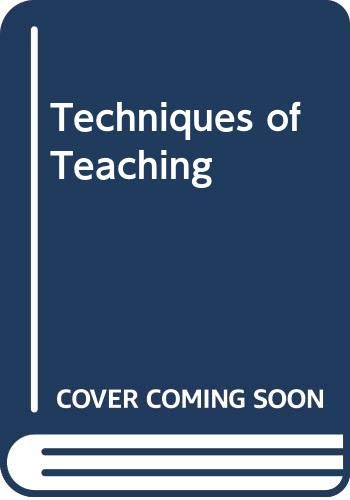 9788170243687: Techniques of Teaching
