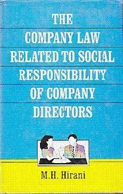 9788170248613: The Company Law Related to Social Responsibility of Company Directors