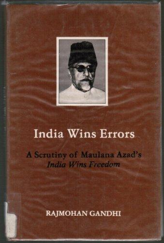 9788170271420: India Wins Errors: A Scrutiny of Maulana Azad's India Wins Freedom