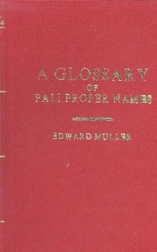 A Glossary of Pali Proper Names