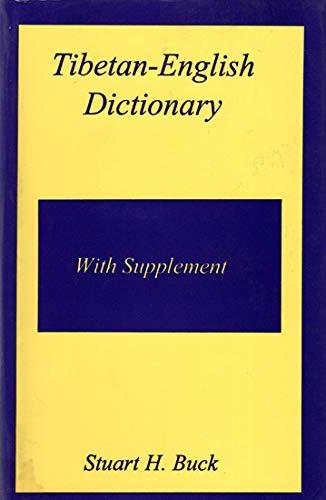 9788170305378: Tibetan-English dictionary: With supplement (Bibliotheca Indo-Buddhica series)