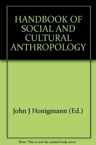 9788170333876: Handbook of Social and Cultural Anthropology - 2 Vols.