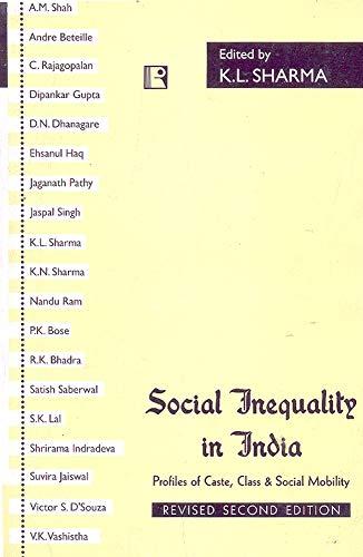Social Inequality in India: Profiles of Caste,: K.L. Sharma (Ed.)
