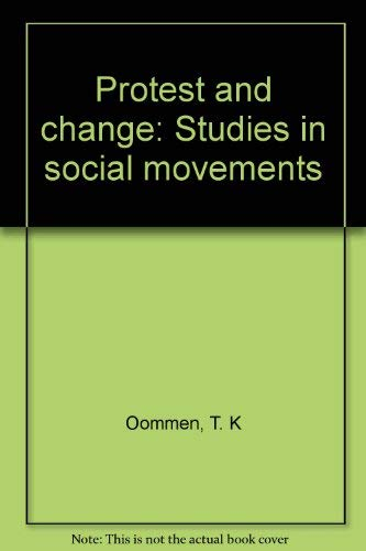 9788170361985: Protest and change: Studies in social movements