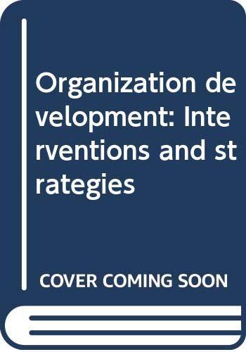 9788170366775: Organization development: Interventions and strategies