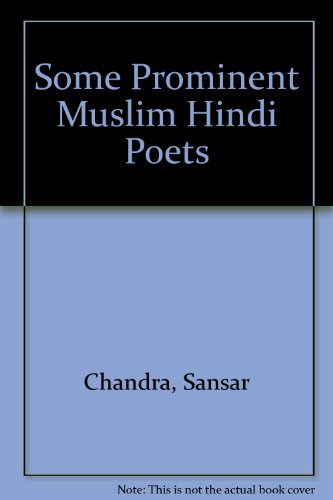 9788170430001: Some Prominent Muslim Hindi Poets