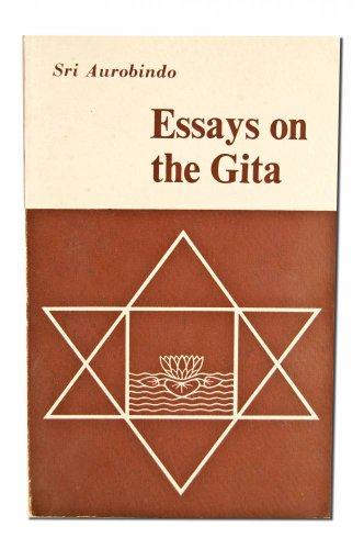 essays gita by aurobindo abebooks