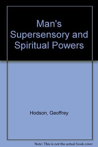 9788170593218: Man's Supersensory and Spiritual Powers