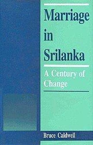 9788170750482: Marriage in Sri Lanka; A Century of Change