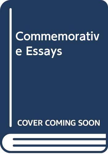 9788170810216: Commemorative Essays