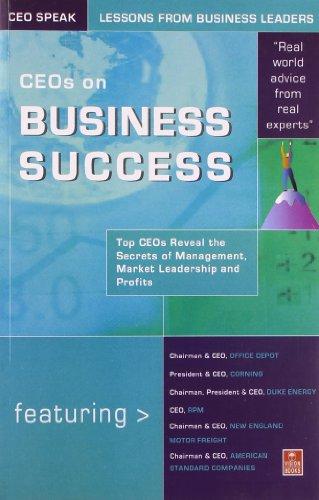 9788170945895: CEOs on Business Success