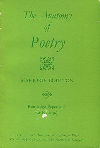 Marjorie Boulton Anatomy Poetry Abebooks