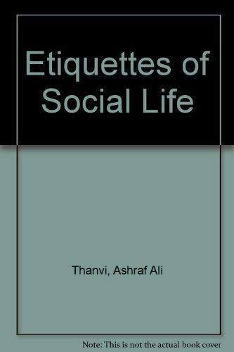 9788171011452: Etiquettes of Social Life