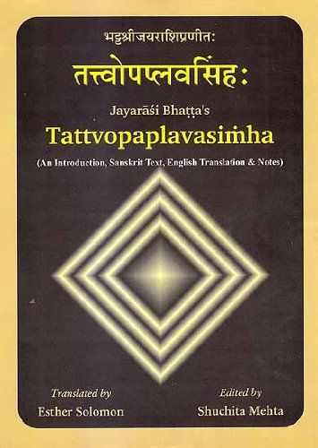 Tattvopaplavasimha: (An Introduction, Sanskrit Text, English Translation & Notes by Esther ...