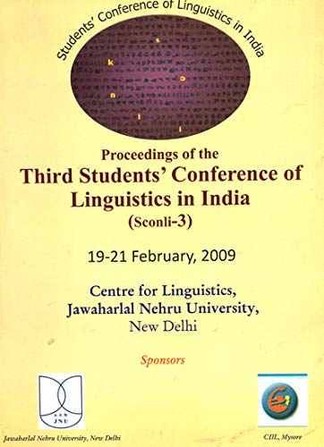 Proceedings of The Third Students Conference of: edited by Narayan