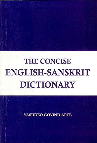 9788171104956: The Concise English Sanskrit Dictionary