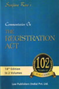 9788171110629: Sanjiva Row's the Registration Act (Act No. XVI of 1908): Being an exhaustive and critical commentary on the act with state amendments as amended upto ... of registration fees (central and states)