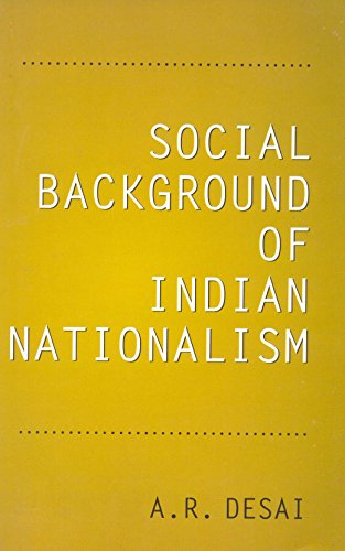 9788171546671: Social Background of Indian Nationalism