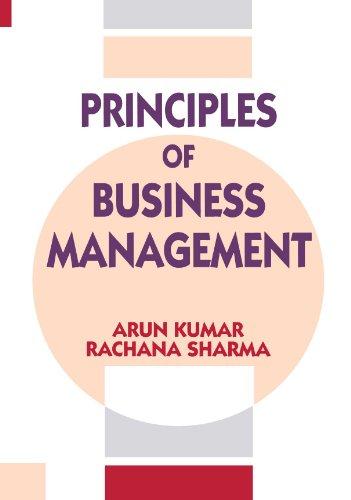 Principles of Business Management: Sharma Rachana Kumar