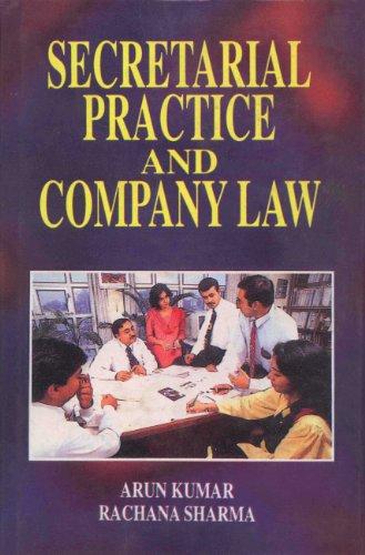 Secretarial Practice and Company Law: Sharma Rachana Kumar