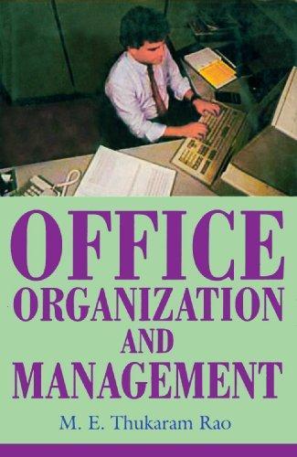Office Organisation and Management: M.E. Thukaram Rao