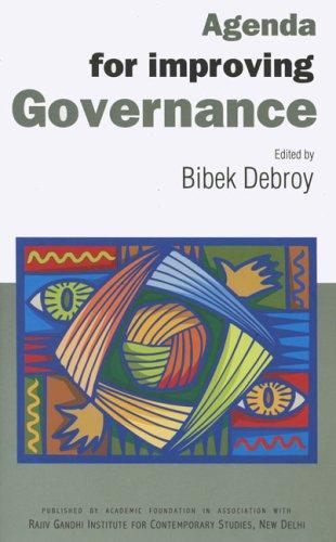 Agenda for improving Governance: Bibek Debroy (Ed.)