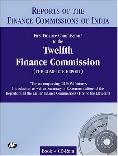 Report of the Finance Commissions of India:First: AF