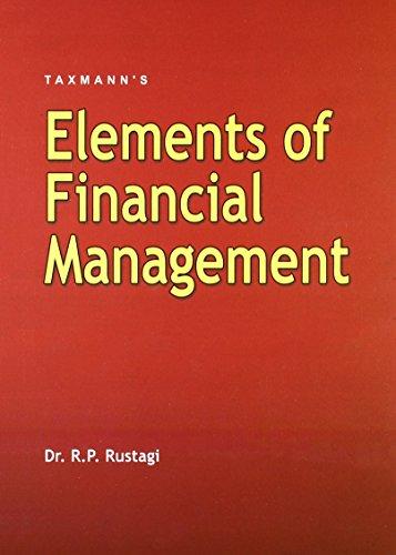 Elements of Financial Management: R.P Rustagi