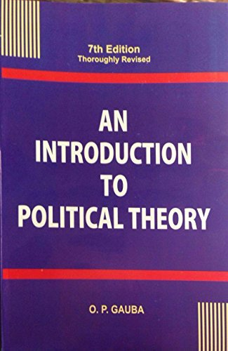 An Introduction To Political Theory: O.P.GAUBA