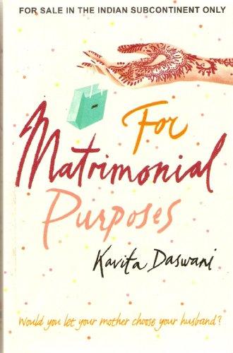 9788172235536: For Matrimonial Purposes: A Novel.