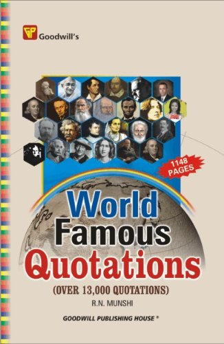 9788172453916: World Famous Quotations: Over 13000 Quotations