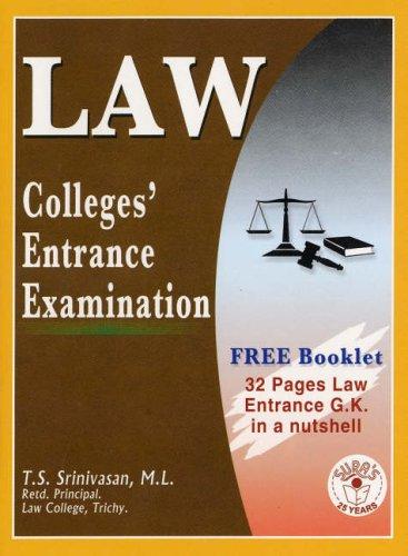 9788172540395: Law College Entrance Examination