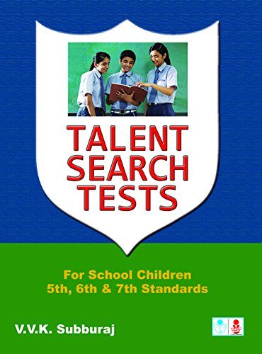 9788172542771: Talent Search Tests: for School Children 5th, 6th, 7th,
