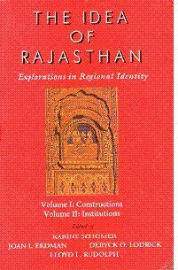 9788173043048: Idea of Rajasthan: Explorations in Regional Identity