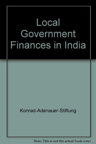 Local Government Finances in India