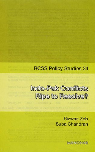 Indo-Pak Conflicts Ripe to Resolve?: Chandran Suba Zeb