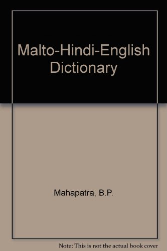 9788173428012: Malto-Hindi-English Dictionary