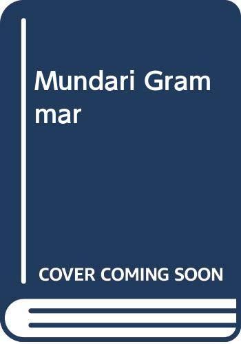 9788173428043: Mundari Grammar