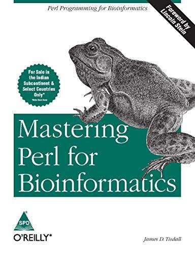 9788173666766: MASTERING PERL FOR BIOINFORMATICS