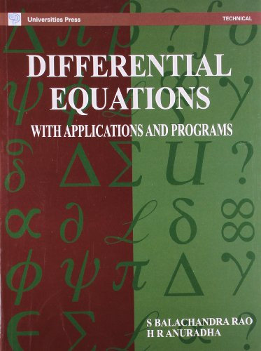 Differential Equations with Applications and Programs: Anuradha H.R. Rao