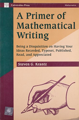 9788173711275: A Primer of Mathematical Writing