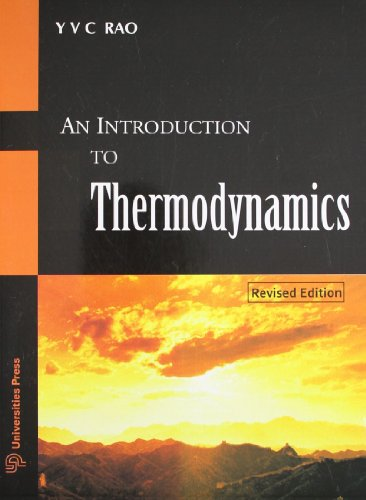 Introduction To Thermodynamics, An: Rao YVC
