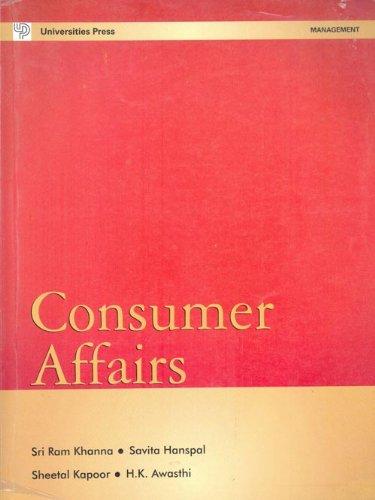 Consumer Affairs: H. K. Awasthi,Sheetal Kapoor,Savita Hanspal,Sri Ram Khanna