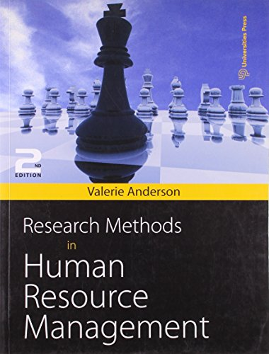 Research Methods in Human Resource Management (Second Edition): Valerie Anderson