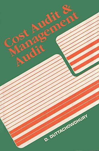 COST AUDIT AND MANAGEMENT AUDIT (Q +: Duttachowdhury