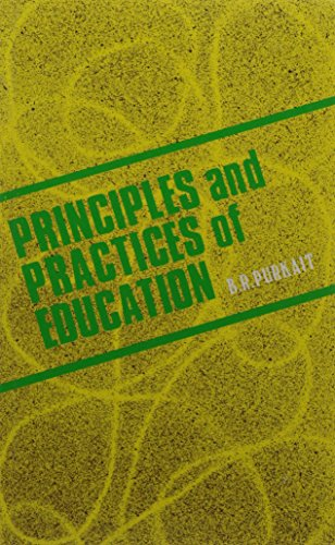 Principles and Practices of Education: Purkait B.R.